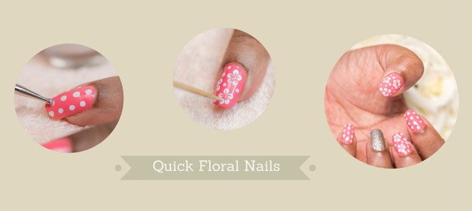 Floral nails within minutes
